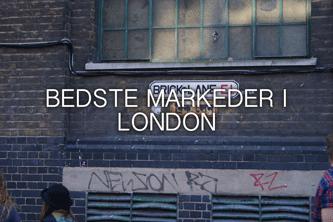 bedste markeder i london