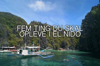 oplevelser i el nido - backpacking i Filippinerne