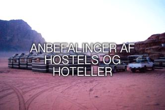 Anbefalinger til hostels og hoteller i jordan