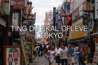 Ting du skal opleve i Tokyo
