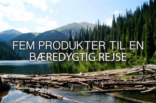 Produkter til en bæredygtig rejse