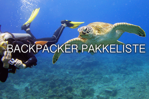 Backpacker pakkeliste